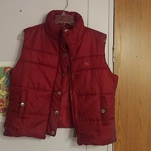 Red Size Large Puffer Vest